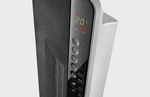 タッチセンサーにそっと触れればお部屋を広範囲に温めてくれます