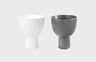 木村 浩一郎 art・craft アート・クラフト cup115 ペアセット マットホワイト+シルバーメタリック