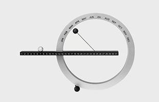 MOMA ギデオン・ダガン 万年カレンダー 卓上 パーペチュアルカレンダー S