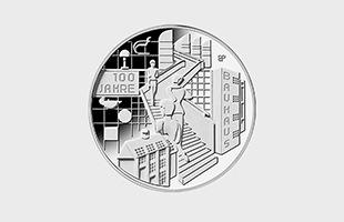 バウハウス100周年 記念硬貨 プルーフライク 表面