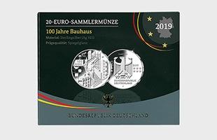 バウハウス100周年 記念硬貨 プルーフライク ブックケース 表面