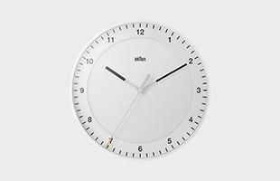 BRAUN ブラウン 掛け時計 BC17 ホワイト