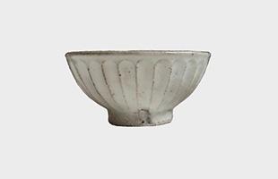 陶房金沢 飯碗 粉引 しのぎ 小