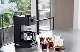 こだわり派の方でも一切の妥協をせずに珈琲名店の味を楽しんで頂けるコーヒーマシン、それが全自動コーヒーメーカー CM-D457Bです