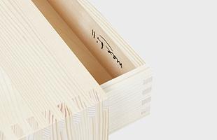 Wohnbedarf ヴォーンベダルフ Max bill マックスビル ウルムスツール 引出し付は、引き出し部分にマックスビルのロゴが刻印されています