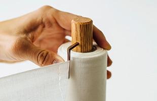 晒を切り取る際に指で押さえやすいように設計しました
