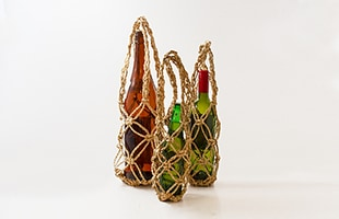 わら細工 七宝編 びんかごは3サイズ展開の商品になります