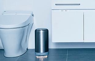 トイレのようなスペースでは「人感センサー」モードにすれば、 人を検知した際に自動で風量が強に