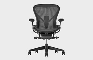 Herman Miller Aeron Chair remastered 正面から見た時のイメージ