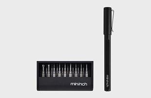 MININCH ミニンチ toolpen mini ツールペン ミニは計22種類のビットが付属しています