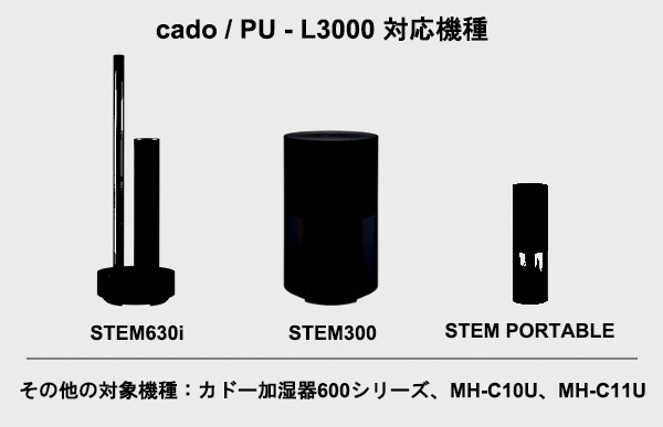 CADO Purio 次亜塩素酸水 PU-L3000に対応しているCADOの機種