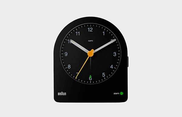 BRAUN ブラウン アラーム置時計 BC22 Black