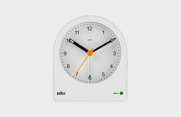 BRAUN ブラウン アラーム置時計 BC22 White