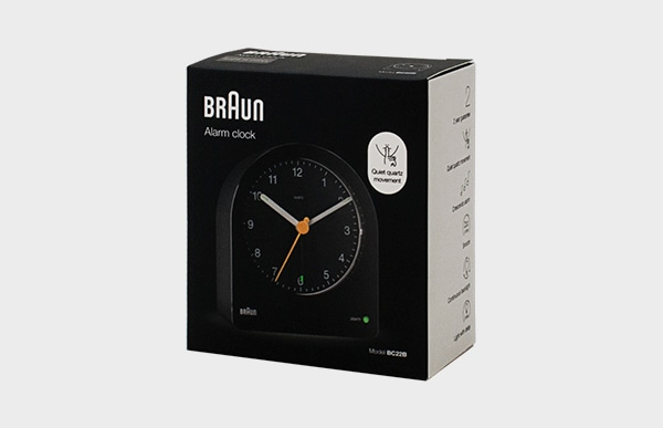 BRAUN ブラウン アラーム置時計 BC22 パッケージイメージ