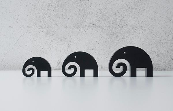 五十嵐 威暢 Elephant Ornamentは全部で3サイズのご用意が御座います
