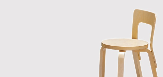 北欧 artek/アルテック/アアルト/子供用椅子/N65チェア/リノリウム黒 [子供用椅子は北欧artek アルテック]