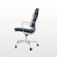 ハーマンミラー/イームズ/ソフトパッドチェア/エグゼクティブ チェア/ハイバック肘付 椅子/革張/黒 [ イームズはハーマン ミラー ]