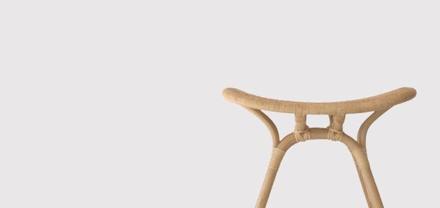 渡辺力 riki watanabe YMK ワイエムケー/籐 椅子/トリイスツール[ 渡辺力 riki watanabeのラタン製トリイスツール ]