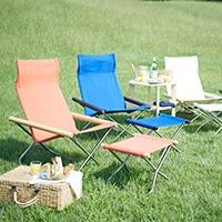NY Chair ニーチェアXは屋外での使用にもお勧めです