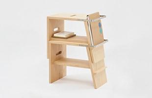atlier stoolを複数重ねることでシェルフとしてもお使い頂けます