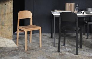サイズもコンパクトでさまざまなシーンで使いやすく、シンプルで飽きのこない、どんなスタイルの空間にも馴染んでくれる椅子です