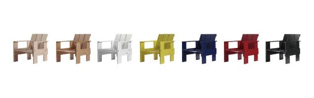 オランダ/リートフェルト/組み立て 子供テーブル・キッズテーブル/クレイトテーブルJr・スツール/ブルー [子供テーブル・キッズテーブル 組み立て式/シリアルNo入]