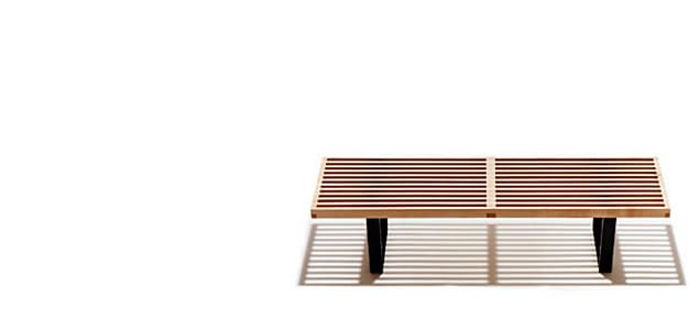 ハーマンミラー/ネルソン プラットフォーム ベンチチェア 木製