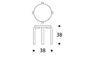 artek アアルト/CHILDREN'S STOOL NE60 リノリウム黒