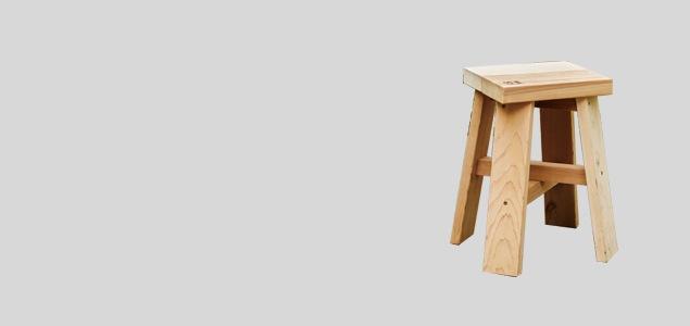 石巻工房/スツール/木製/BOY [ 石巻工房の木製スツール ]