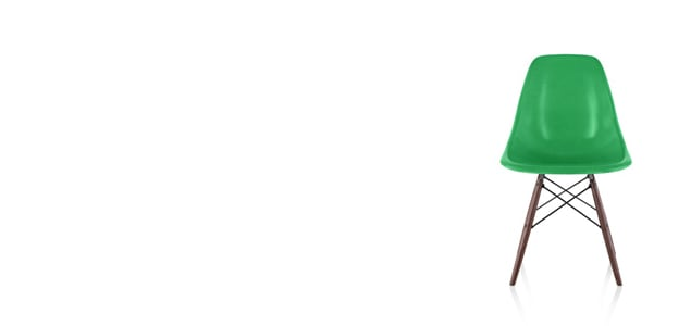 【正規保証5年】ハーマンミラー社 イームズ FRPシェルチェア ダウェルベース サイドチェア(ネイビーブルー×ウォールナット)