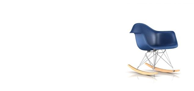【正規保証5年】ハーマンミラー社 イームズ FRPシェルチェア  ロッカーベース アームチェア ベース:クローム(ウルトラマリンブルー×メープル)