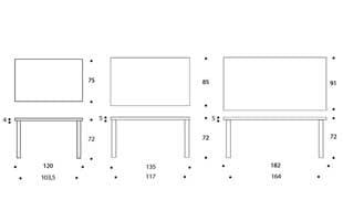 北欧 artek/アルテック/アアルト/ダイニングテーブル 81B ホワイト [ダイニングテーブルは北欧artek アルテック]