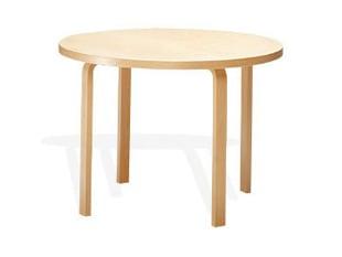 北欧 artek/アルテック/アアルト/丸テーブル 90A バーチ [丸テーブルは北欧artek アルテック]