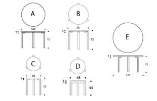 北欧 artek/アルテック/アアルト/丸テーブル 91 ブラック [丸テーブルは北欧artek アルテック]