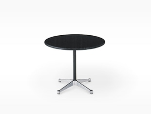 ハーマンミラー/イームズ/コントラクトベース/丸 テーブル/黒/Φ106.5xH70cm[テーブルはイームズ/ハーマンミラー]