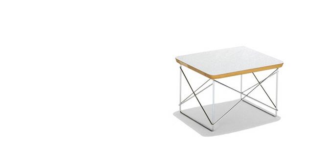 【正規保証5年】ハーマンミラー イームズ ミニテーブル ワイヤーベース テーブル LTR [ホワイト×トリバレントクローム]