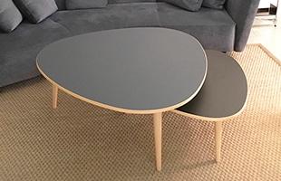 Max bill マックスビル スリーラウンドテーブルにはハイ、ロウ、スモールの三種類のご用意が御座います。イメージはロウとスモールの組み合わせとなっています