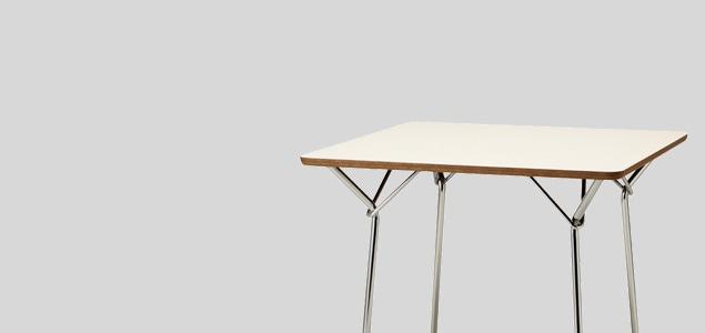 天童木工/柳宗理 YANAGI DESIGN/テーブル 850mm/ホワイト