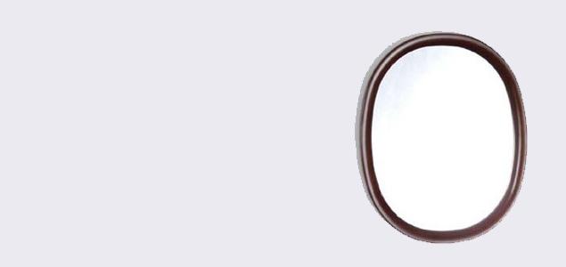柳宗理/ウォールミラー・壁掛け・姿見・鏡/丸型S・木地色[ウォールミラー・壁掛け・姿見・鏡は柳宗理]