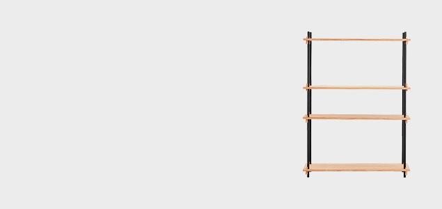 ミニマル・システム・シェルフ MOEBE SHELVING SYSTEM Single H115cm