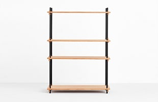 MOEBE SHELVING SYSTEM Single H115cm オーク