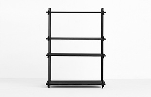 MOEBE SHELVING SYSTEM Single H115cm ブラック
