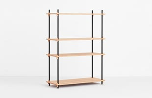 MOEBE SHELVING SYSTEM Single H115cm オーク イメージ
