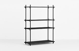 MOEBE SHELVING SYSTEM Single H115cm ブラック イメージ