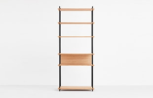 MOEBE SHELVING SYSTEM Single H200cm オーク