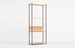 MOEBE SHELVING SYSTEM Single H200cm オーク イメージ