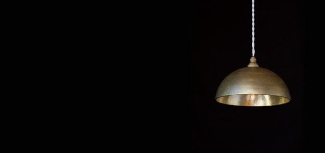 FUTAGAMI フタガミ/ペンダントランプ/ペンダントライト鋳肌 半球 鍛金 [FUTAGAMI フタガミのペンダントランプ・ペンダントライトは北欧アンティーク風]