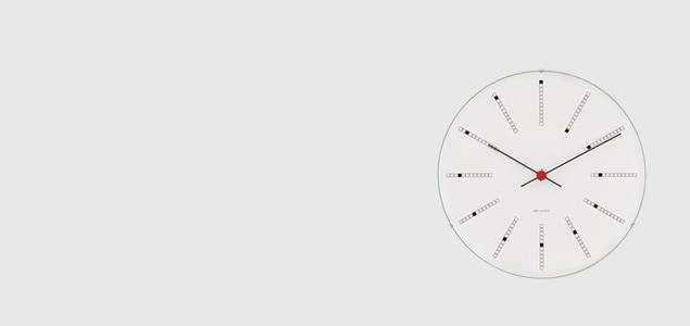 ローゼンダール アルネ ヤコブセン 掛時計・壁掛け時計 bankers バンカーズφ29cm  [ デザイナーズ ウォールクロック 北欧 ]
