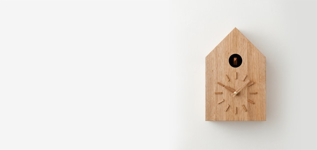 坂本龍一/more trees (モア・トゥリーズ) 鳩時計 クルミ|深澤直人デザイン [鳩時計はmore trees (モア・トゥリーズ)]