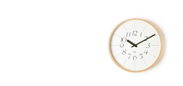 [渡辺力/リキワタナベ]lemnos レムノス/riki clock(リキクロック)掛時計・壁掛け時計 太字S [渡辺力/リキワタナベのリキクロック]